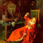Kardinolas Julijus Mazarinis tarp savo tikrųjų lobių